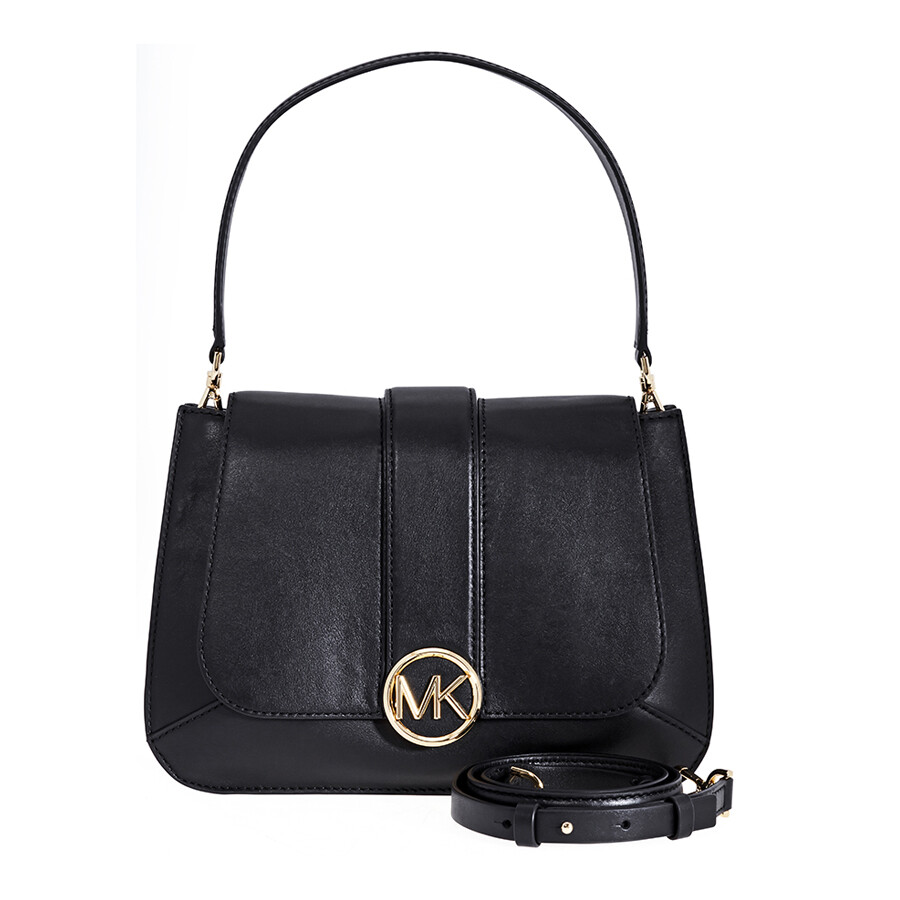 a224347ce2e6 Michael Kors Lillie Medium Leather Shoulder Bag- Black Item No.  30F8G0LF2T-001