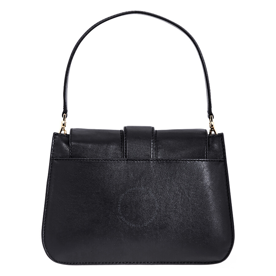 1901ca50be4e2 Michael Kors Lillie Medium Leather Shoulder Bag- Black Item No.  30F8G0LF2T-001
