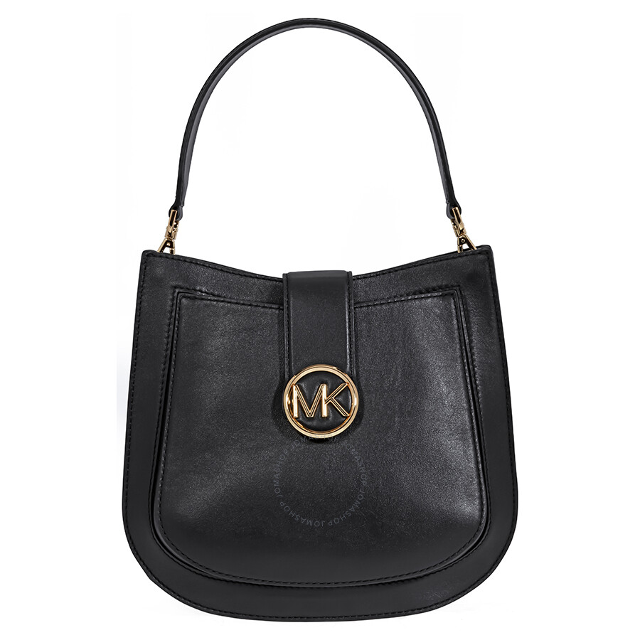 a1d4fc01492e Michael Kors Lillie Medium Leather Shoulder Bag- Black Item No.  30F8G0LM2T-001