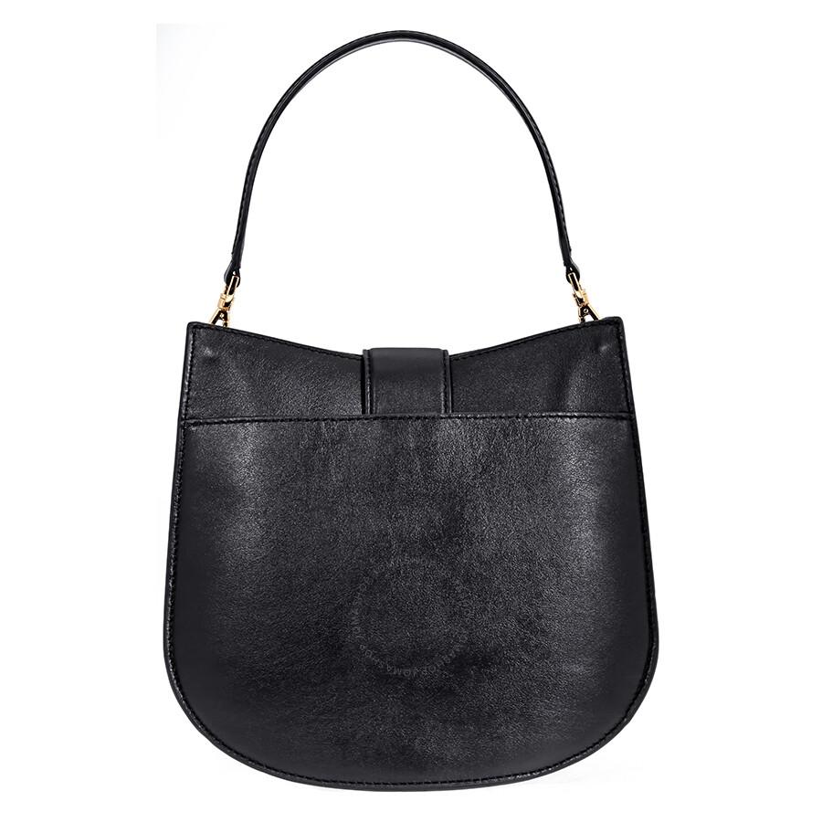 5b0c85f1a289 Michael Kors Lillie Medium Leather Shoulder Bag- Black - Michael ...