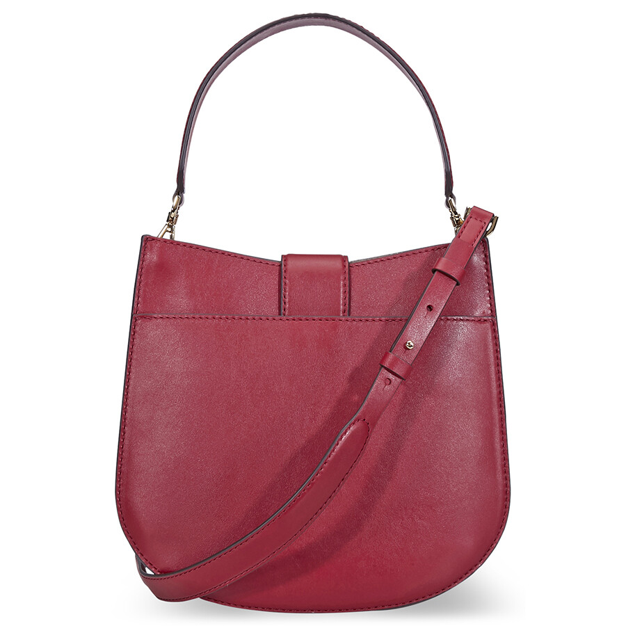 4754c9db4183 Michael Kors Lillie Medium Leather Shoulder Bag- Maroon Item No.  30F8G0LM2T-550