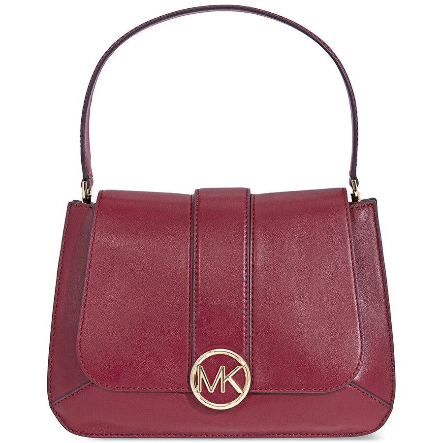 9df0414fc6a9 Michael Kors Lillie Medium Leather Shoulder Bag- Oxblood - Michael ...