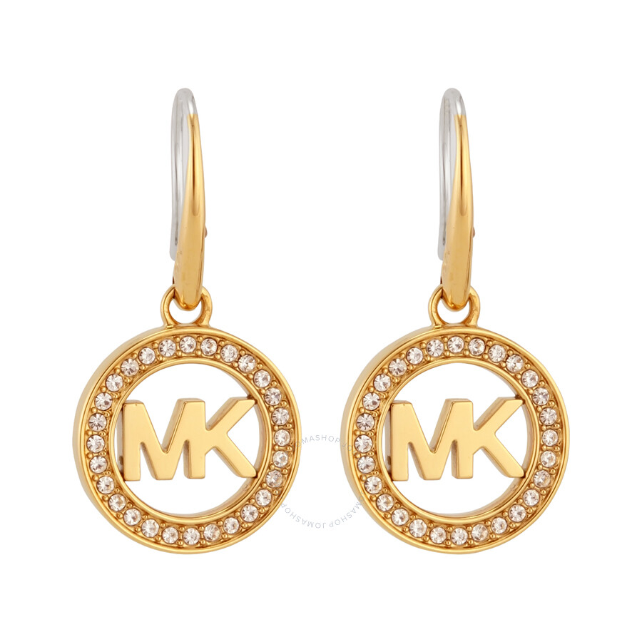 michael kors logo gold tone earrings mkj4794710 michael