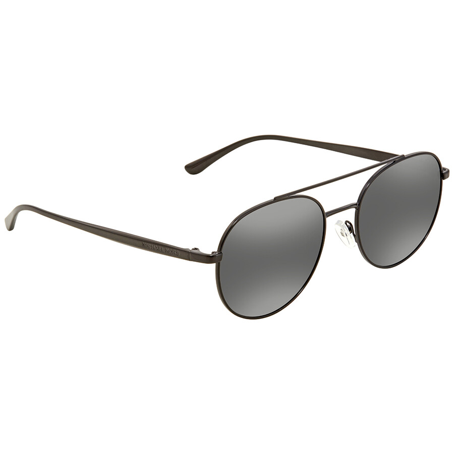 a339b6c21 Michael Kors Lon Gunmetal Mirror Aviator Ladies Sunglasses MK1021-11696G-53  ...