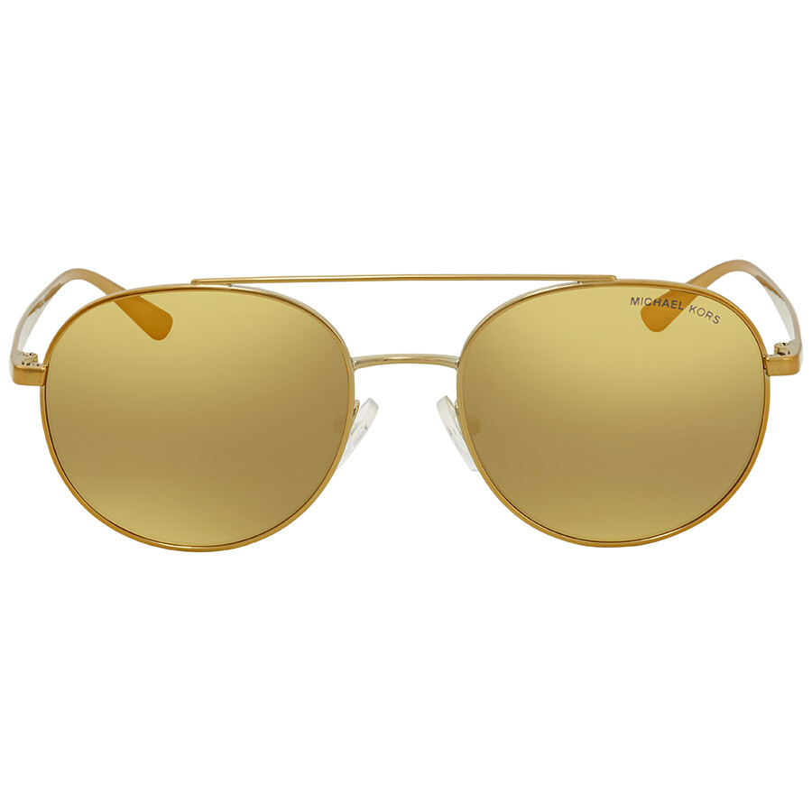 ef7ae235f28 ... Michael Kors Lon Liquid Gold Aviator Ladies Sunglasses MK1021-11687P-53  ...