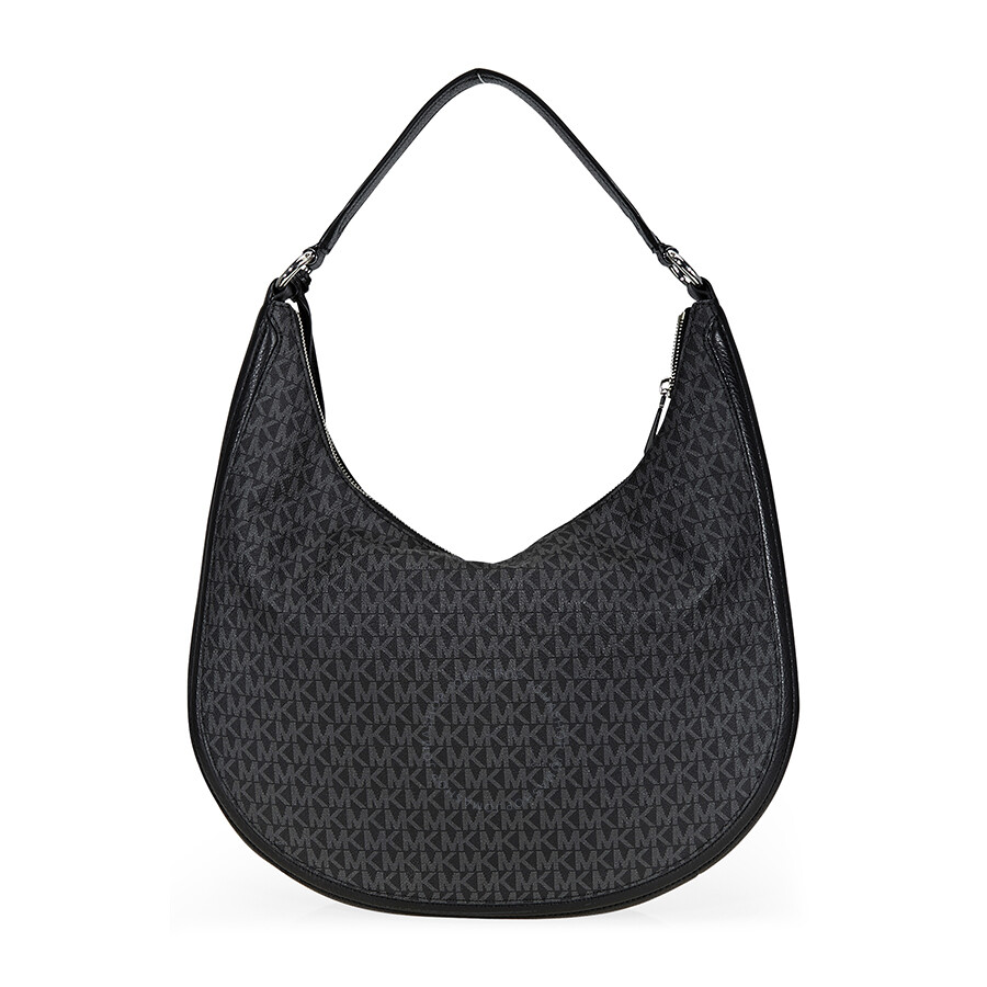 5ca74de49453 Michael Kors Lydia Large Hobo Bag- Black - Michael Kors Handbags ...