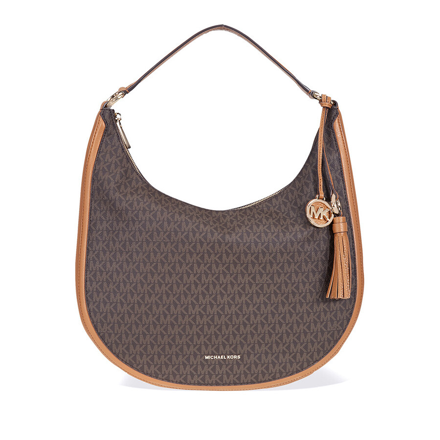 Michael Kors Lydia Large Hobo Shoulder Bag Brown