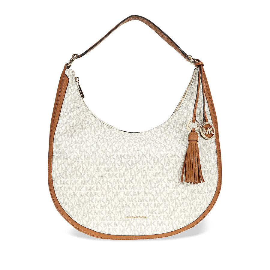 2f35fd3f283a Michael Kors Lydia Large Hobo Shoulder Bag - Vanilla Item No. 30F7GL0L3B-150