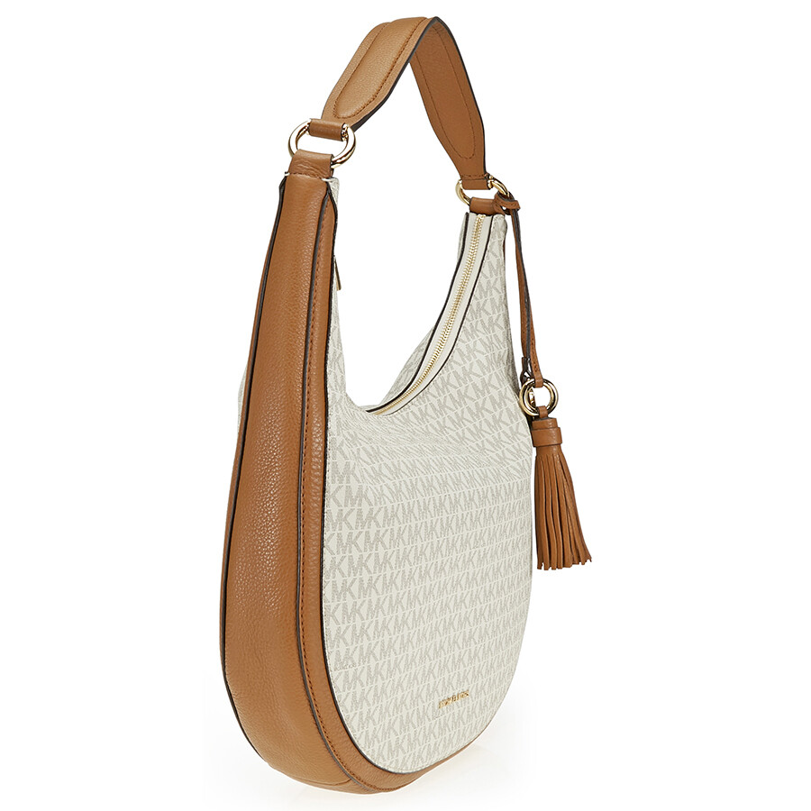 7b268c4d6236 ... official store michael kors lydia large hobo shoulder bag vanilla 50115  33d4d