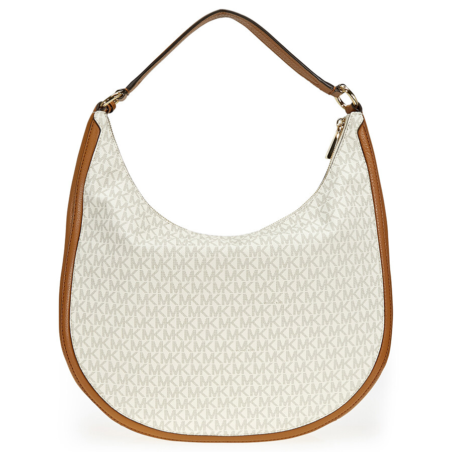 99e61c866b11 Michael Kors Lydia Large Hobo Shoulder Bag - Vanilla - Michael Kors ...