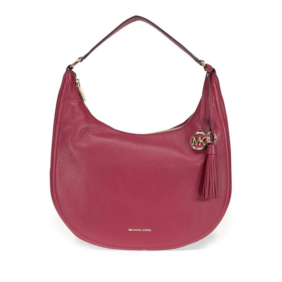 d00313c0cfb44 Michael Kors Lydia Large Shoulder Bag - Mulberry Item No. 30F7GL0L3L-666