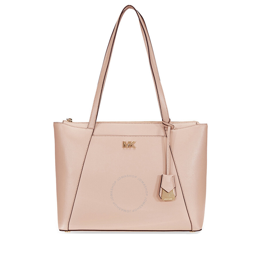 9543a907e409 Michael Kors Maddie Medium Crossgrain Leather Tote- Fawn - Michael ...