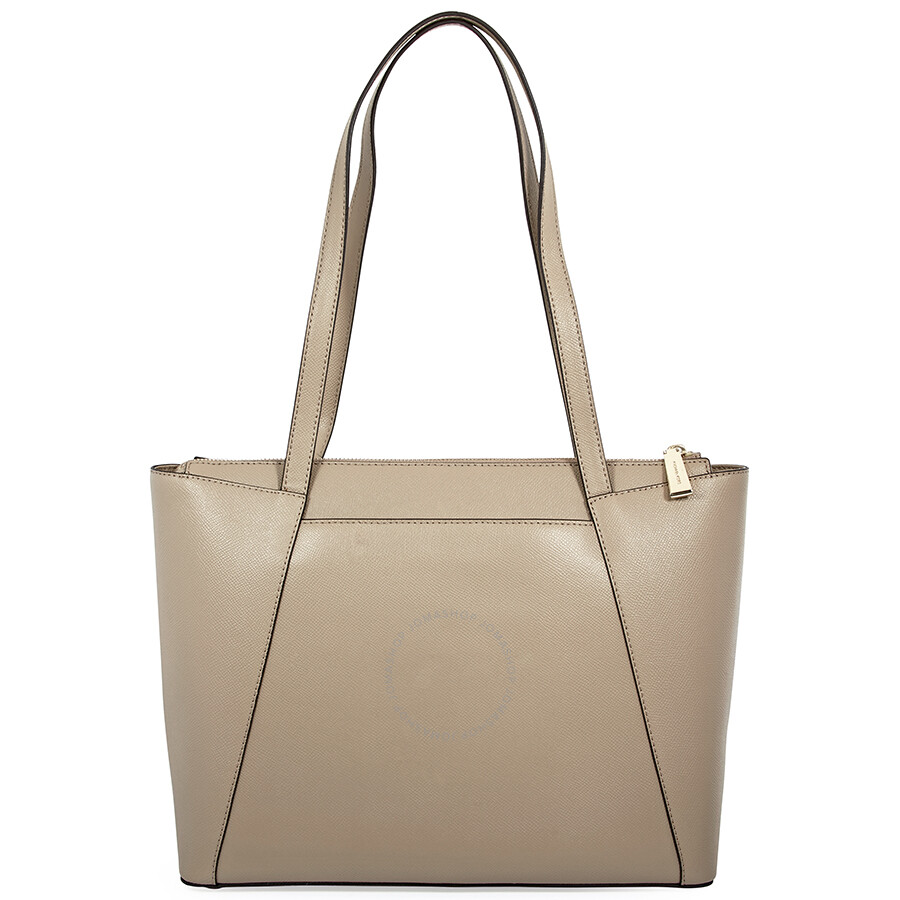 0e90a13ef7a5 Michael Kors Maddie Medium Crossgrain Leather Tote-Truffle - Michael ...