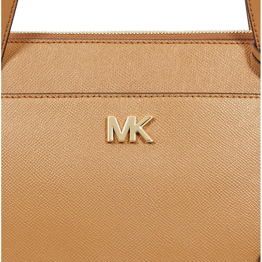 4463b28baae1 Michael Kors Maddie Medium East West Leather Tote- Acorn - Michael ...