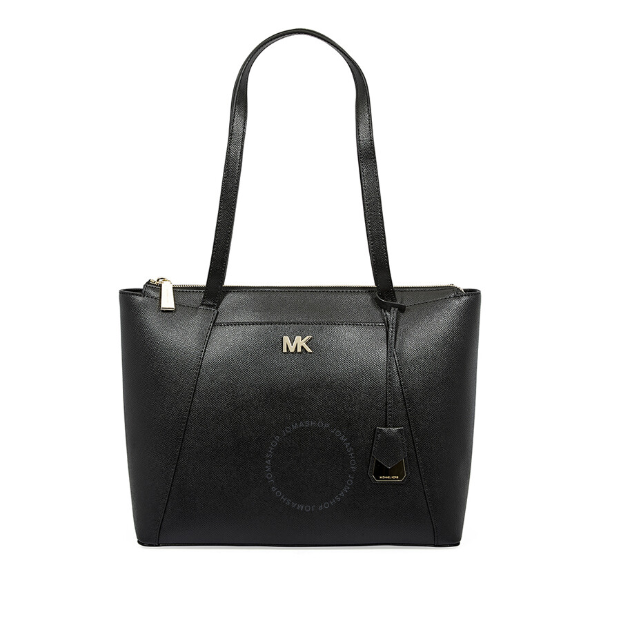 Michael Kors Mad Medium East West Leather Tote Black