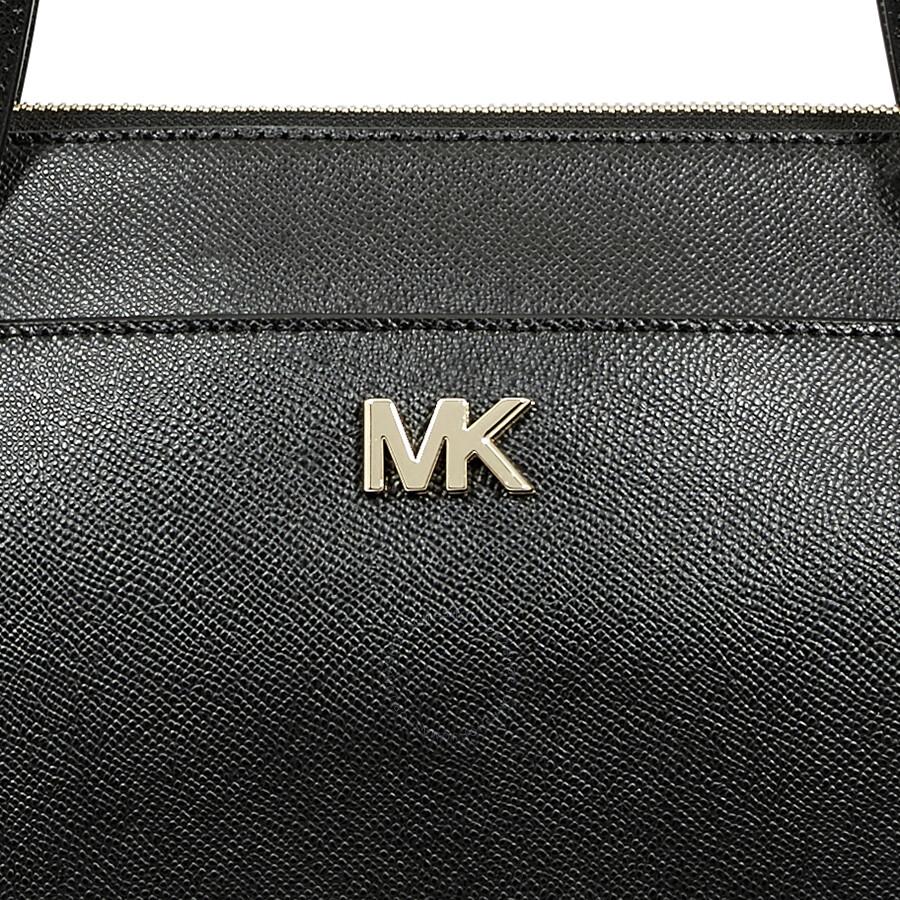 Michael Kors Maddie Medium East West Leather Tote- Black - Michael ... c88cfed4ee7ec