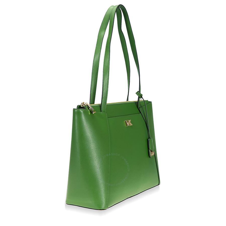 823408bc62b4 Michael Kors Maddie Medium Leather Tote- True Green Item No. 30S8GN2T2L-304