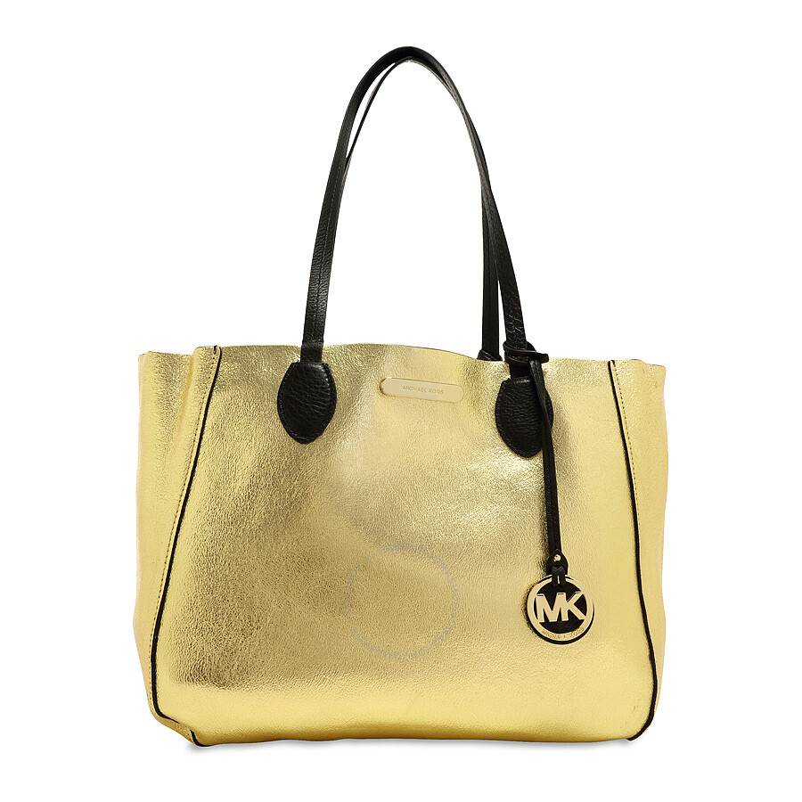 46c8f3642ffe Michael Kors Mae Large Reversible Tote - Black/Pale Gold - Mae ...