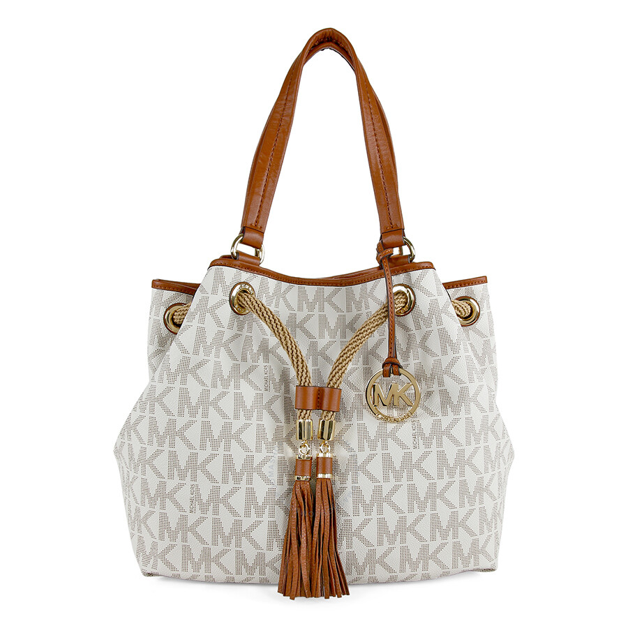 Bolsa michael kors no panama : Michael kors marina large mk signature pvc gathered tote