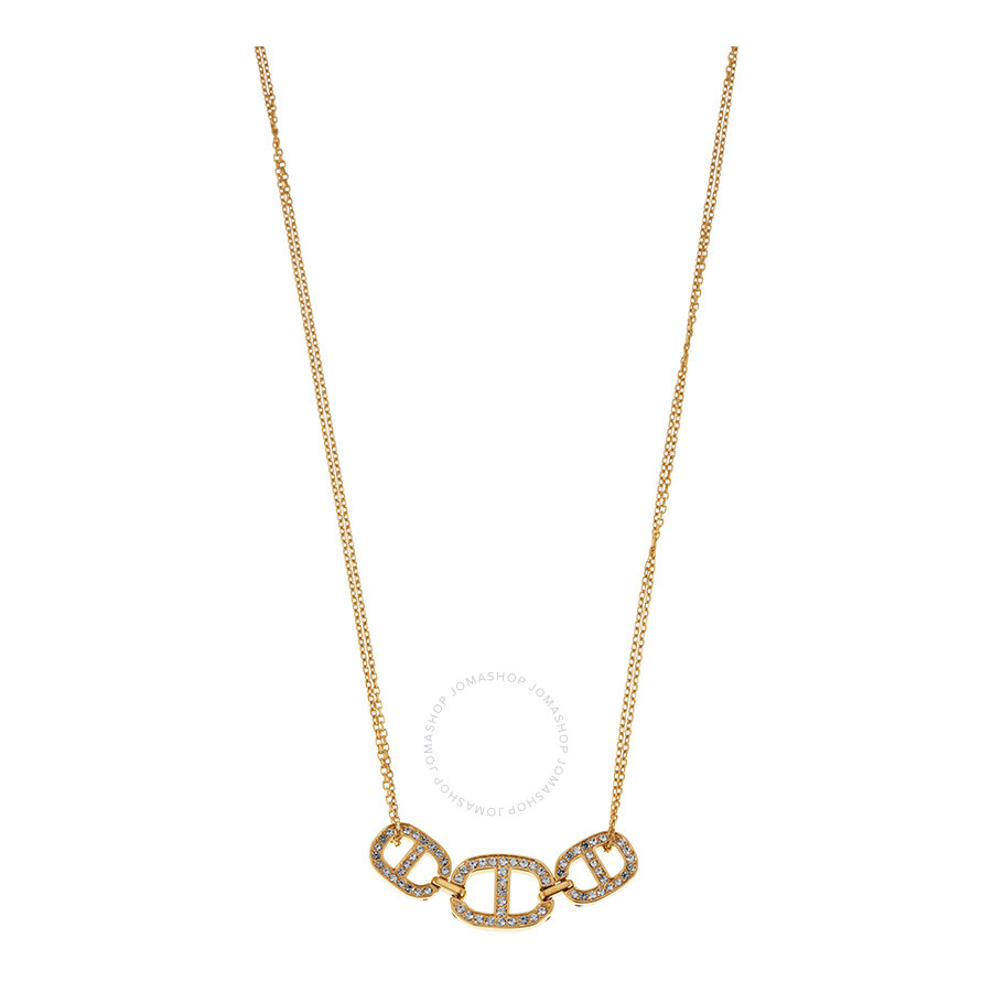 991401f893f60 Michael Kors Maritime Pave Gold-Tone Plated Necklace Item No. MKJ4453710