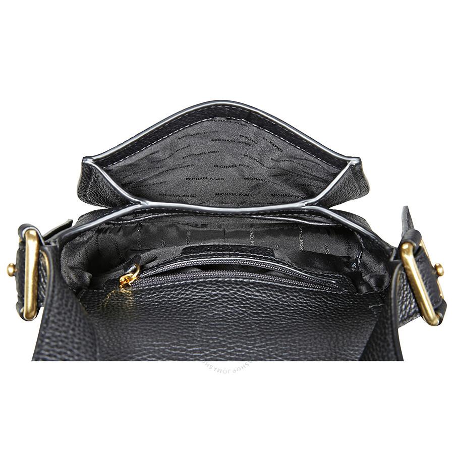 79d61afc23505 Michael Kors Maxine Pebbled Saddlebag - Black - Michael Kors ...