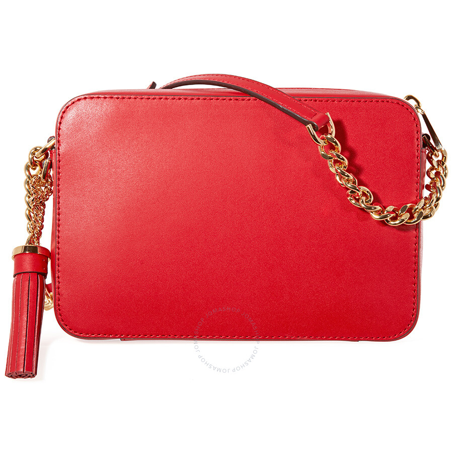 129b28d89abe Michael Kors Medium Ginny Heart Studded Camera Bag - Red - Ginny ...