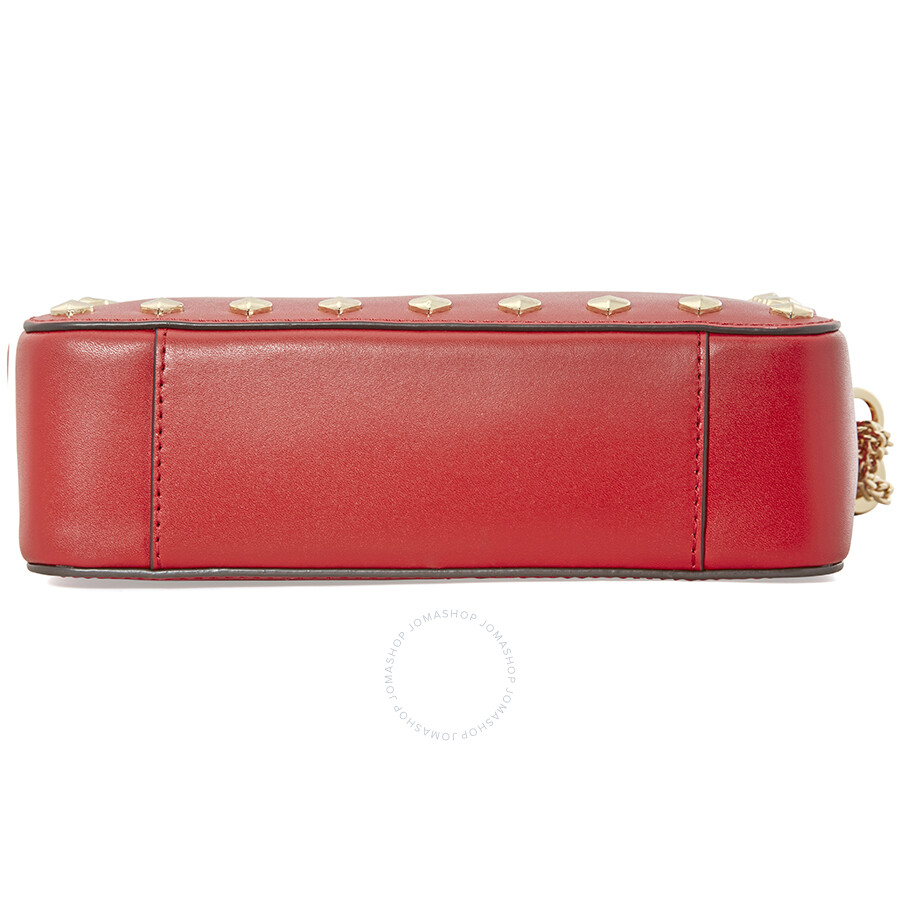 769314408010 Michael Kors Medium Ginny Heart Studded Camera Bag - Red - Ginny ...
