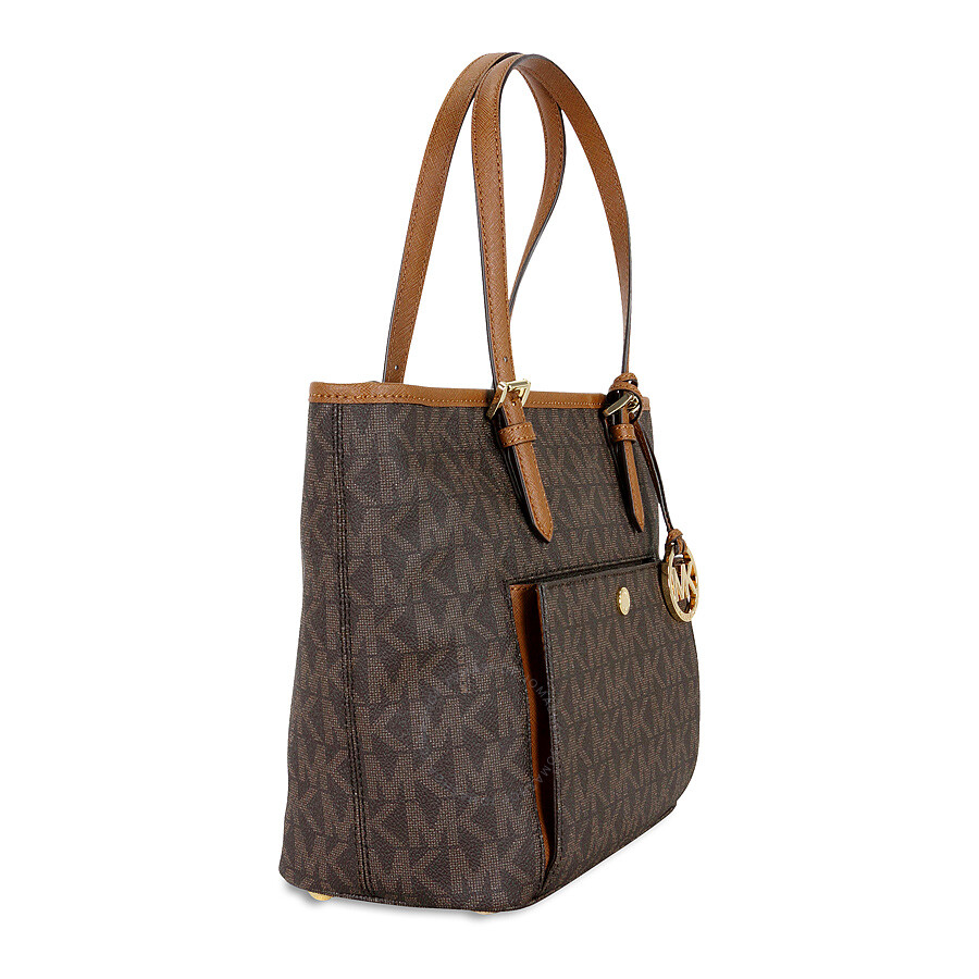 michael kors medium jet set top zip tote brown jet set michael kors handbags handbags. Black Bedroom Furniture Sets. Home Design Ideas