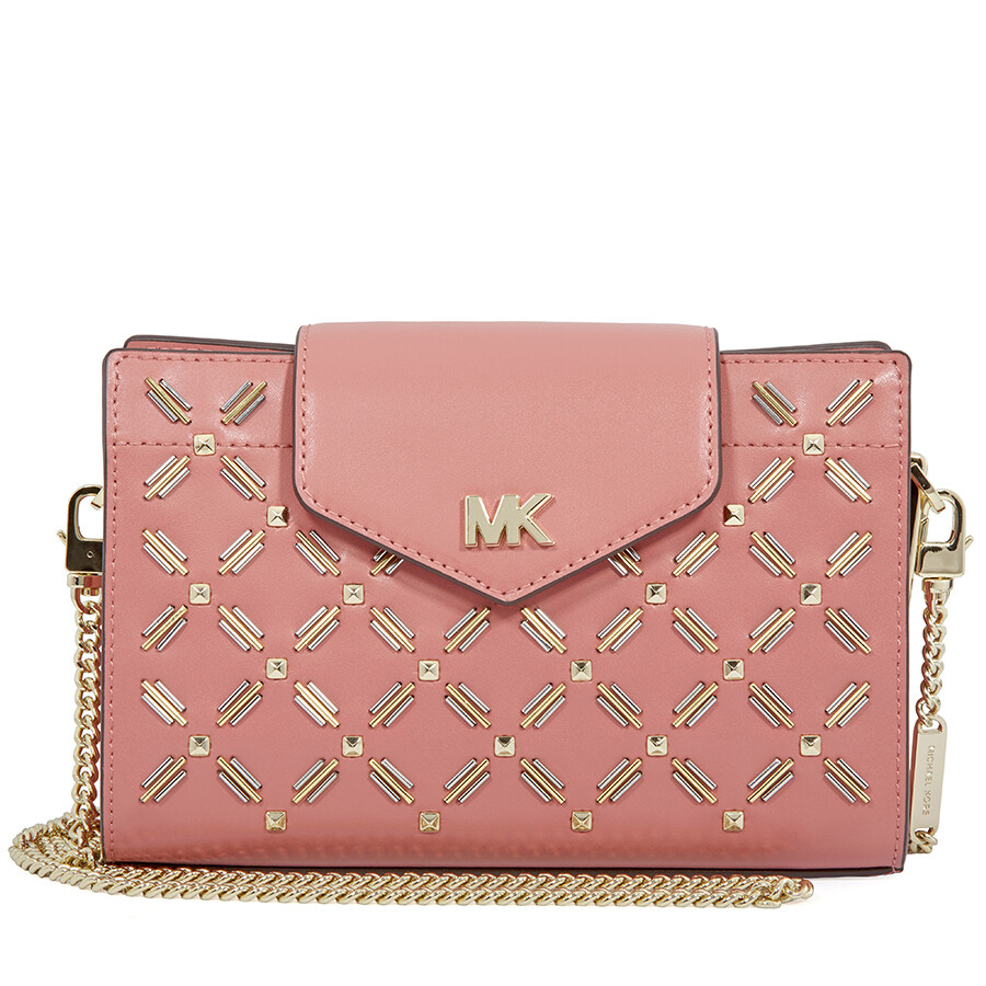 40106b2c2d6 Michael Kors Medium Floral Leather Crossbody Clutch- Rose Item No.  32H8TF5C8U-622