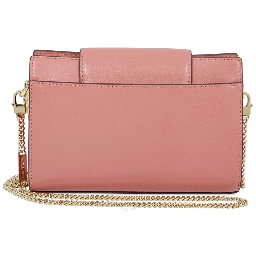 3fd982854e0a Michael Kors Medium Floral Leather Crossbody Clutch- Rose Item No.  32H8TF5C8U-622