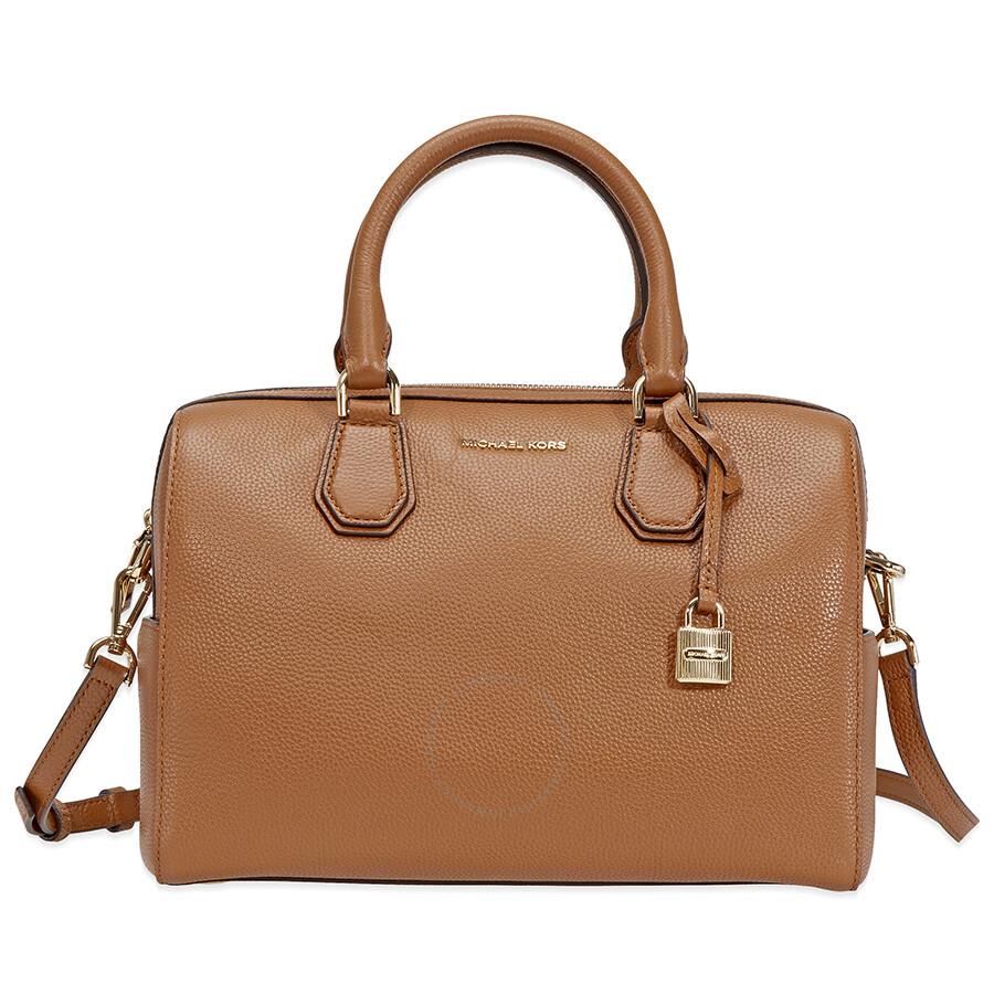 michael kors medium leather duffel bag luggage michael. Black Bedroom Furniture Sets. Home Design Ideas