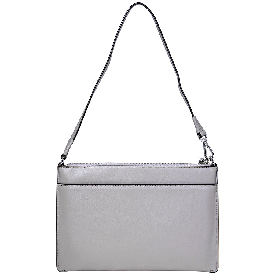 e07e2fbca589 Michael Kors Medium Convertible Leather Pouch- Pearl Grey - Michael ...