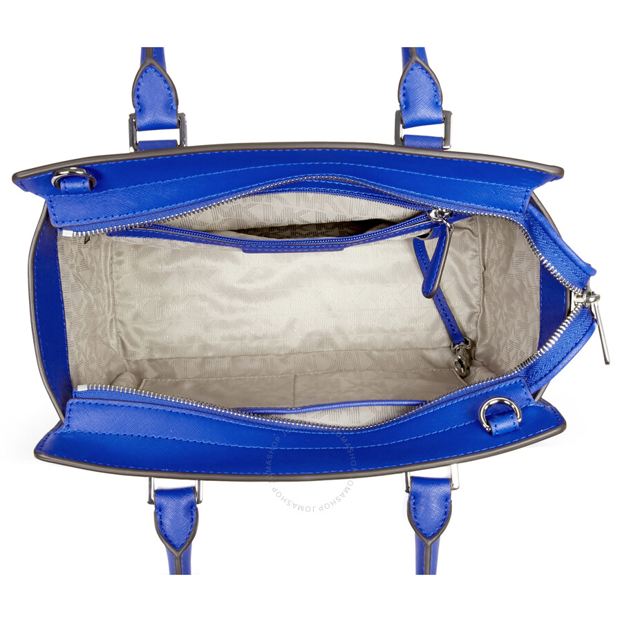 32bb6371cb02 Michael Kors Medium Selma Saffiano Leather Satchel - Electric Blue ...