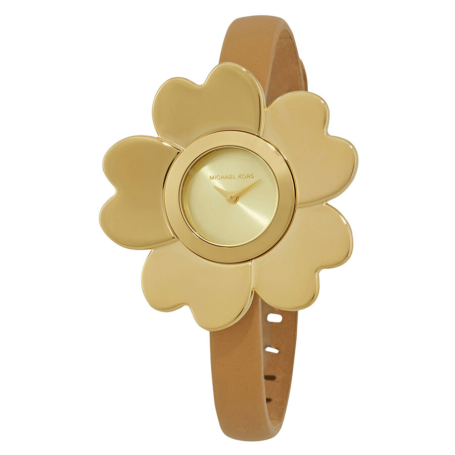 ac5ed01d6dbc Michael Kors Mena Gold-tone Ladies Flower Watch MK2664 - Michael ...
