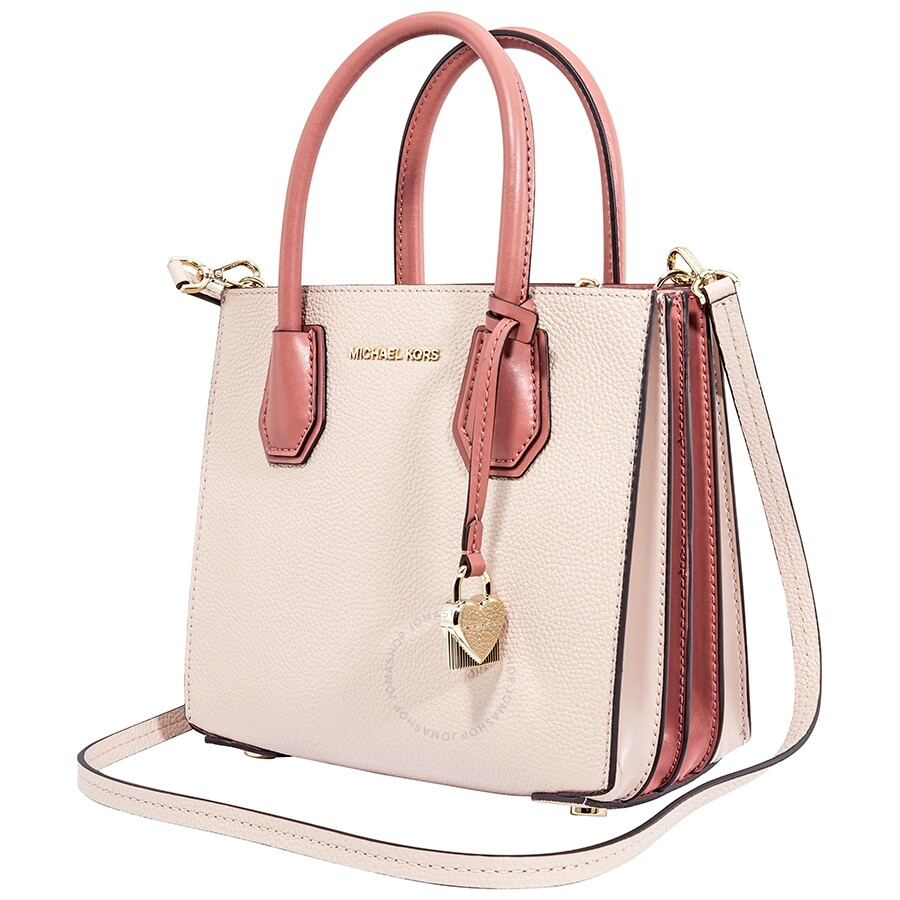 a64c608edf100c Michael Kors Mercer Accordion Messenger Medium - Soft Pink/ Multi ...