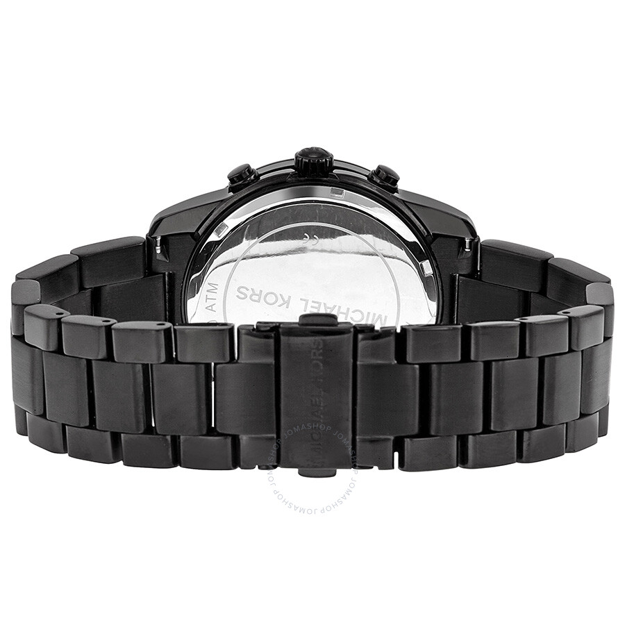 7d6eecaaa8d164 ... Michael Kors Mercer Chronograph Black Dial Black-plated Ladies Watch  MK5858 ...