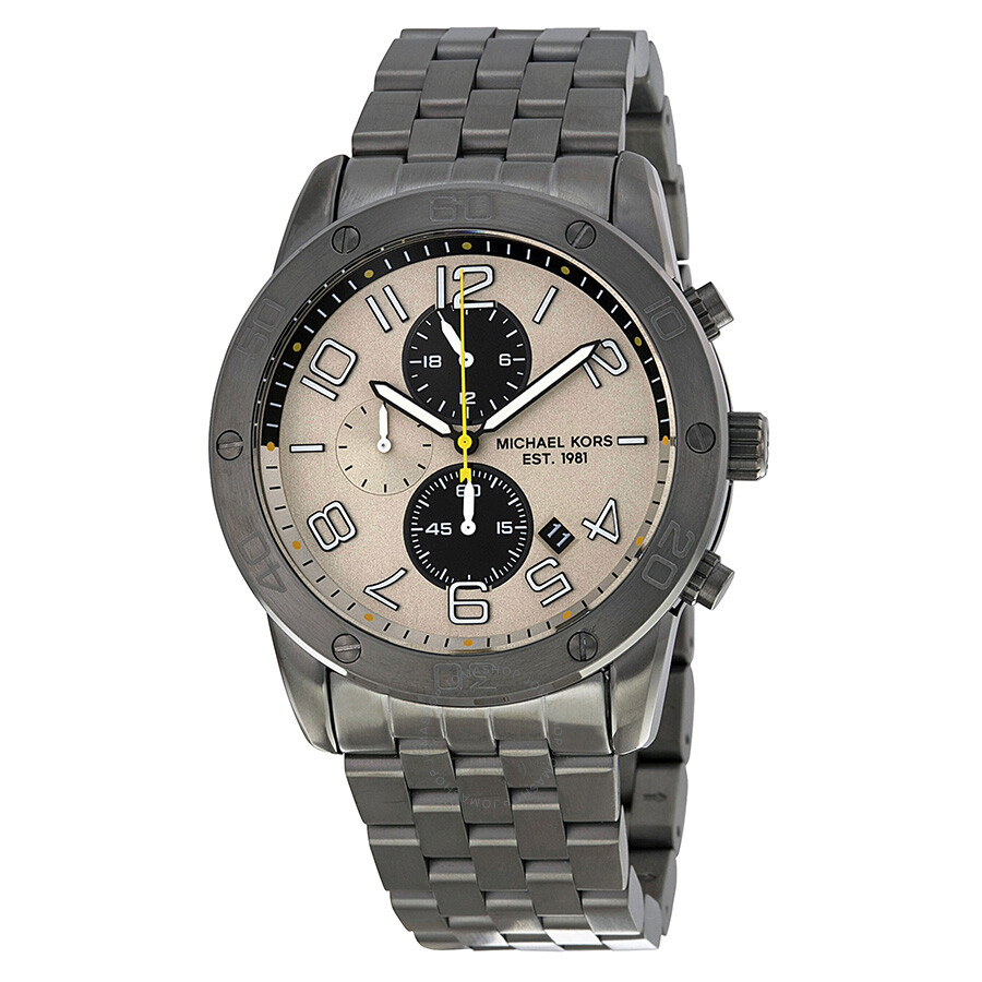 michael kors mercer chronograph gunmetal dial gunmetal. Black Bedroom Furniture Sets. Home Design Ideas