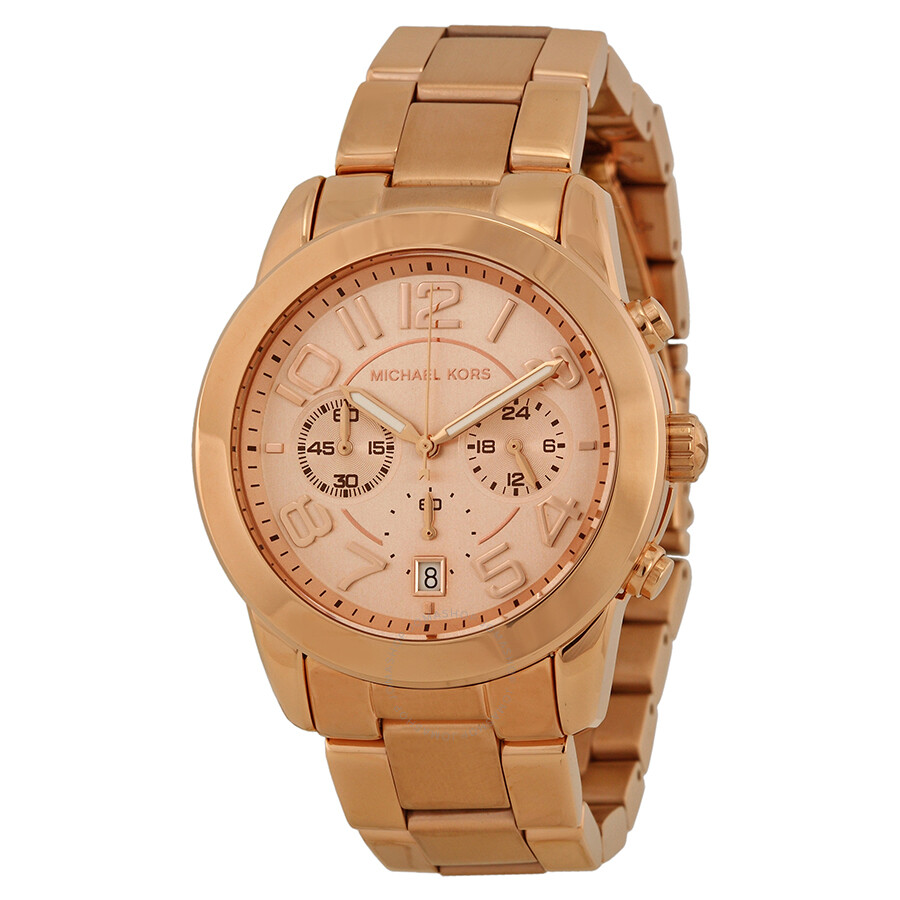 michael kors mercer chronograph rose gold tone ladies. Black Bedroom Furniture Sets. Home Design Ideas