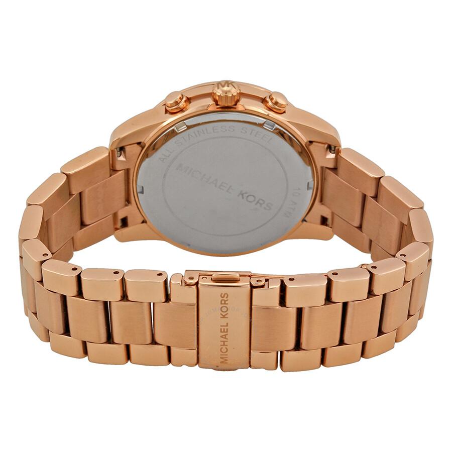 cc5257ca2f79 ... Michael Kors Mercer Chronograph Rose Gold-Tone Ladies Watch MK5727 ...