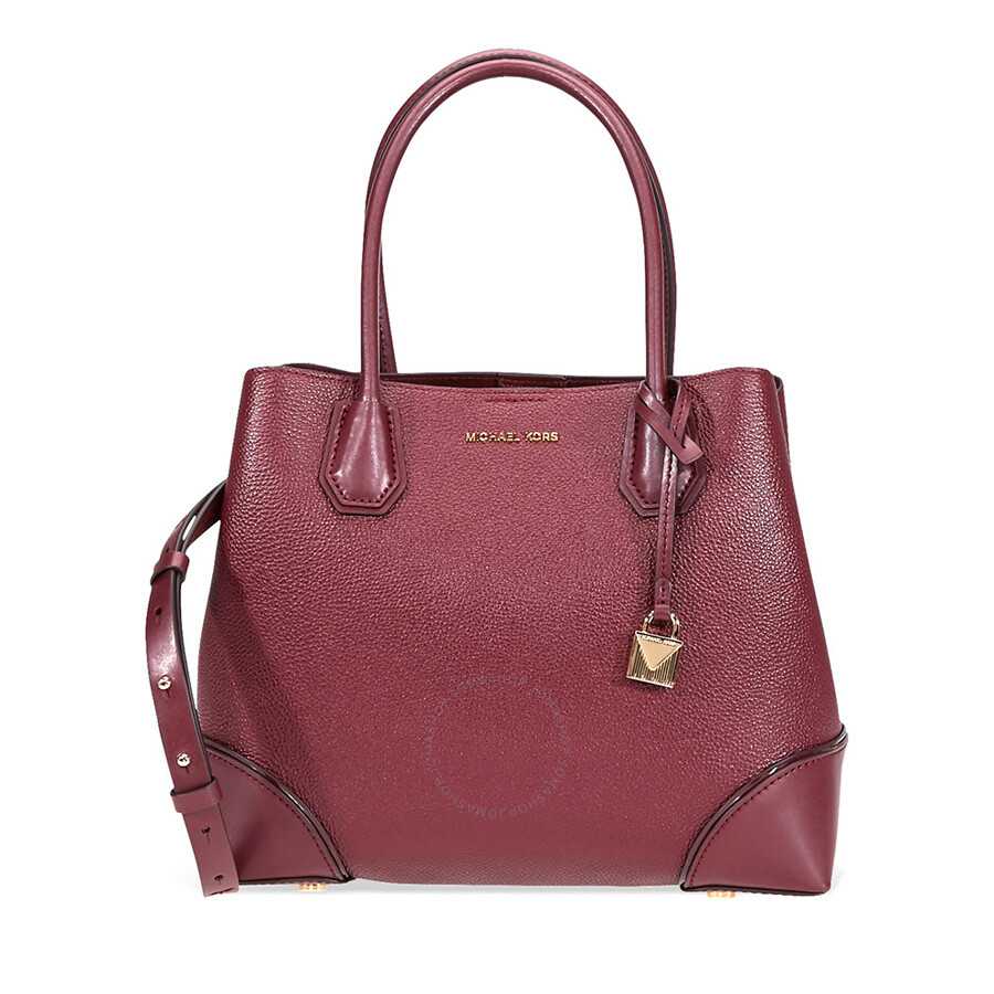 a6546d0740c6 Michael Kors Mercer Gallery Medium Leather Satchel- Oxblood ...