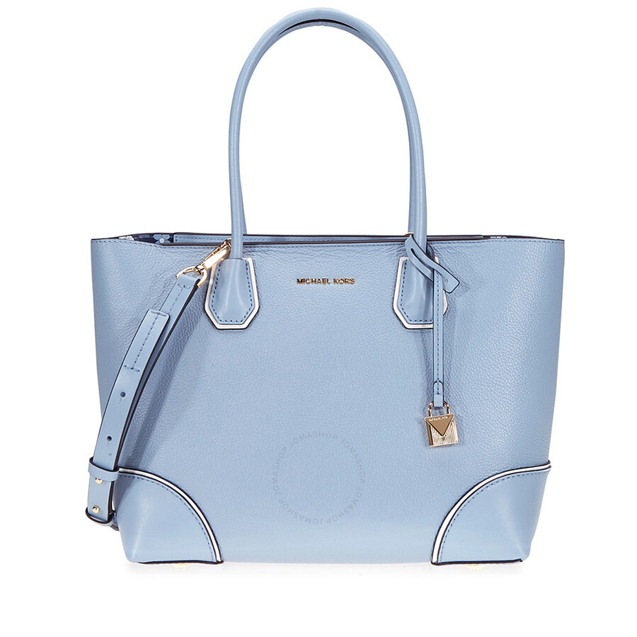 a628f371d9fa Michael Kors Mercer Gallery Medium Leather Tote- Pale Blue - Mercer ...