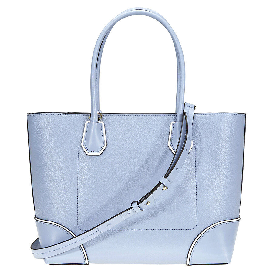 fc7a96a6ff0f Michael Kors Mercer Gallery Medium Leather Tote- Pale Blue - Mercer ...
