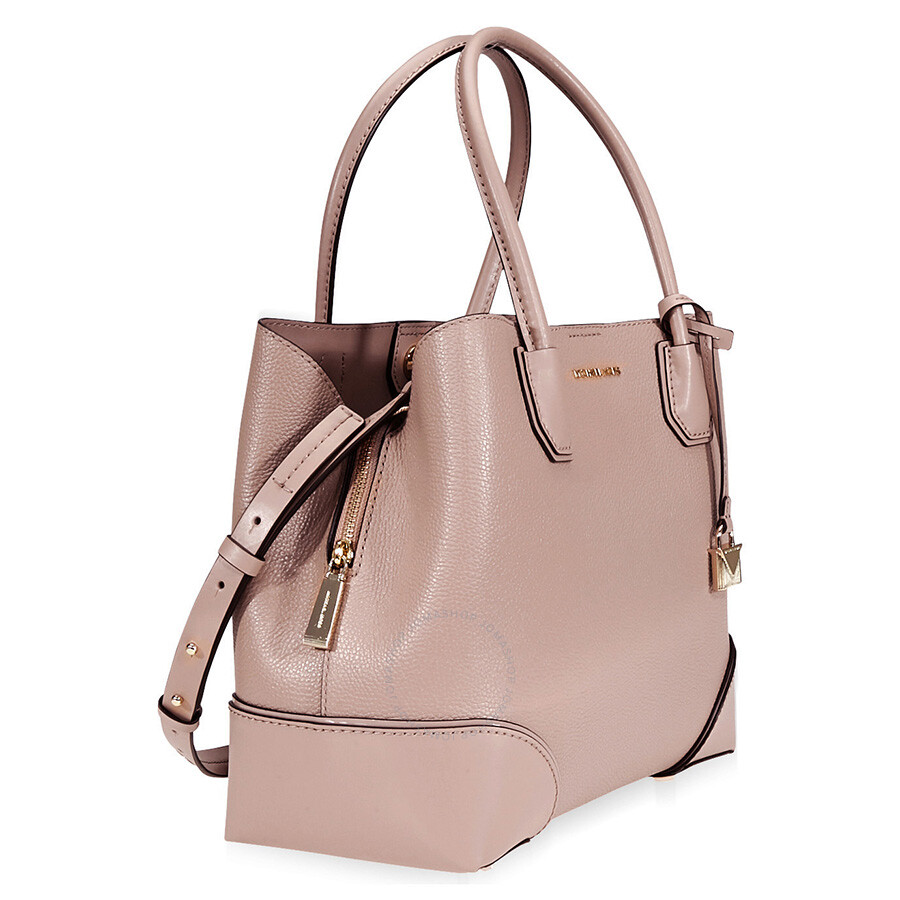 835abd41878c Michael Kors Mercer Gallery Medium Pebbled Leather Satchel- Fawn ...