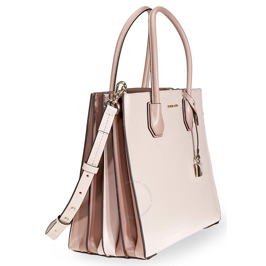 0c3c882e5c3817 Michael Kors Mercer Large Accordion Tote- Soft Pink - Handbags ...