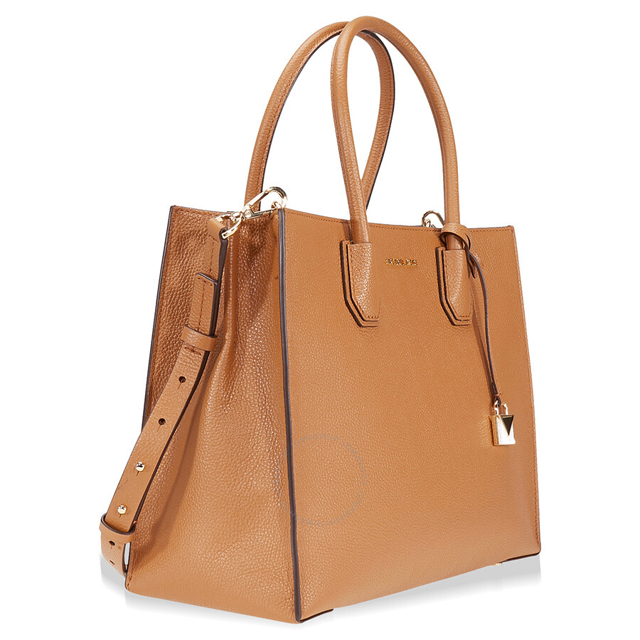 98563a99e Michael Kors Mercer Large Bonded Leather Tote - Acorn Item No.  30F6GM9T3L-532