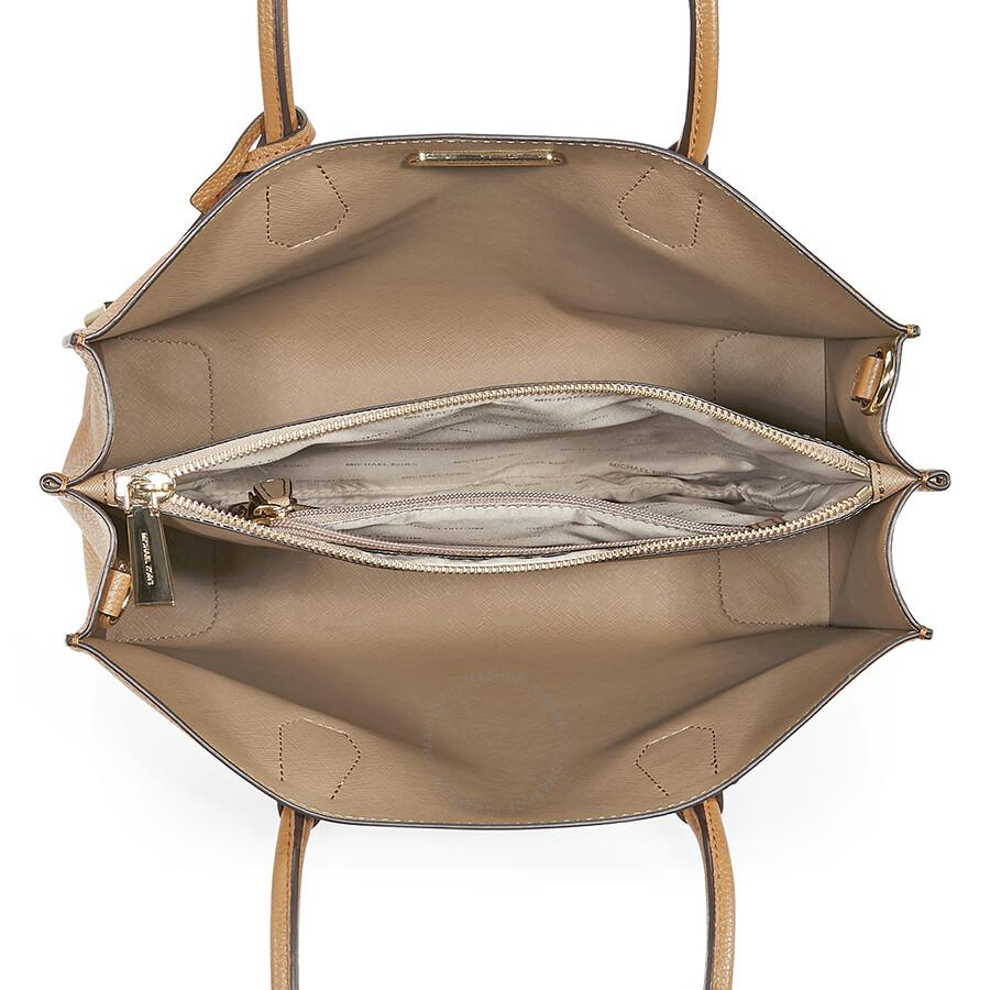 9590fdcceef187 Michael Kors Mercer Large Bonded Leather Tote - Acorn - Mercer ...