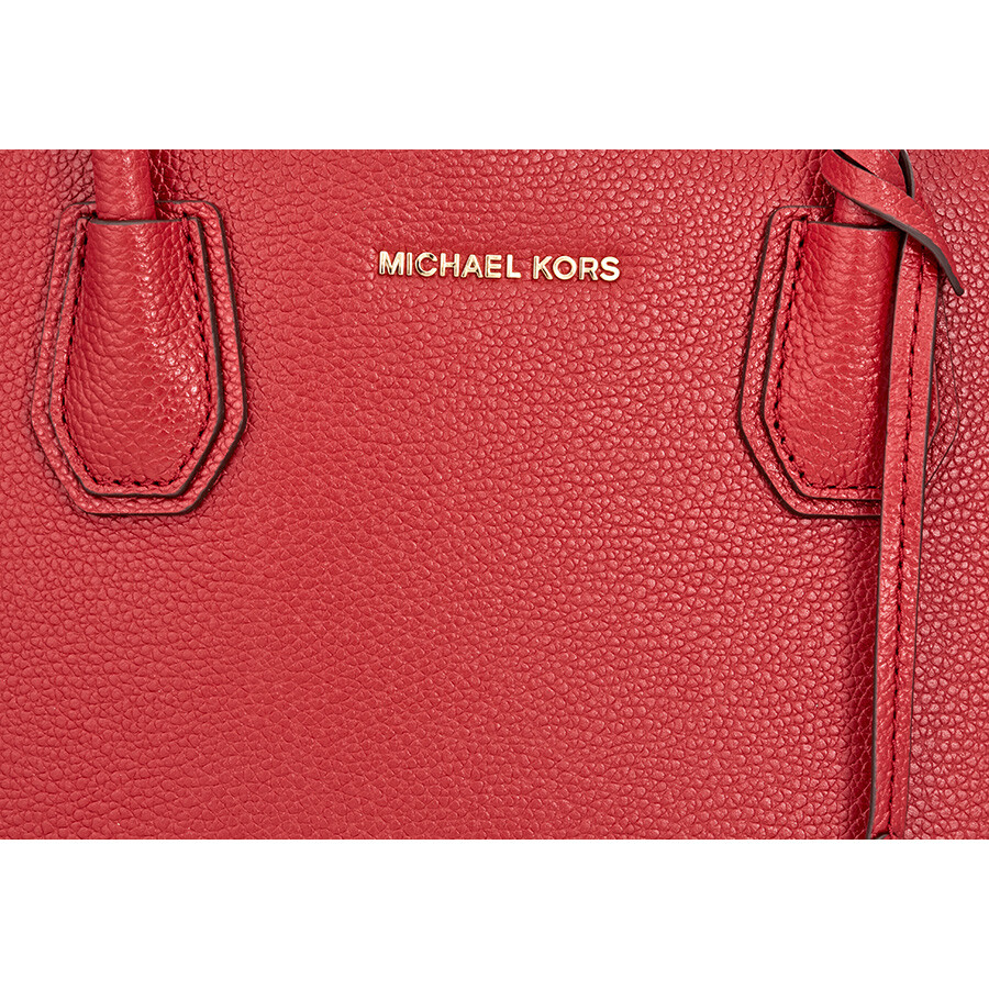 fc9f57295d Michael Kors Mercer Large Bonded Leather Tote - Burnt Red - Michael ...