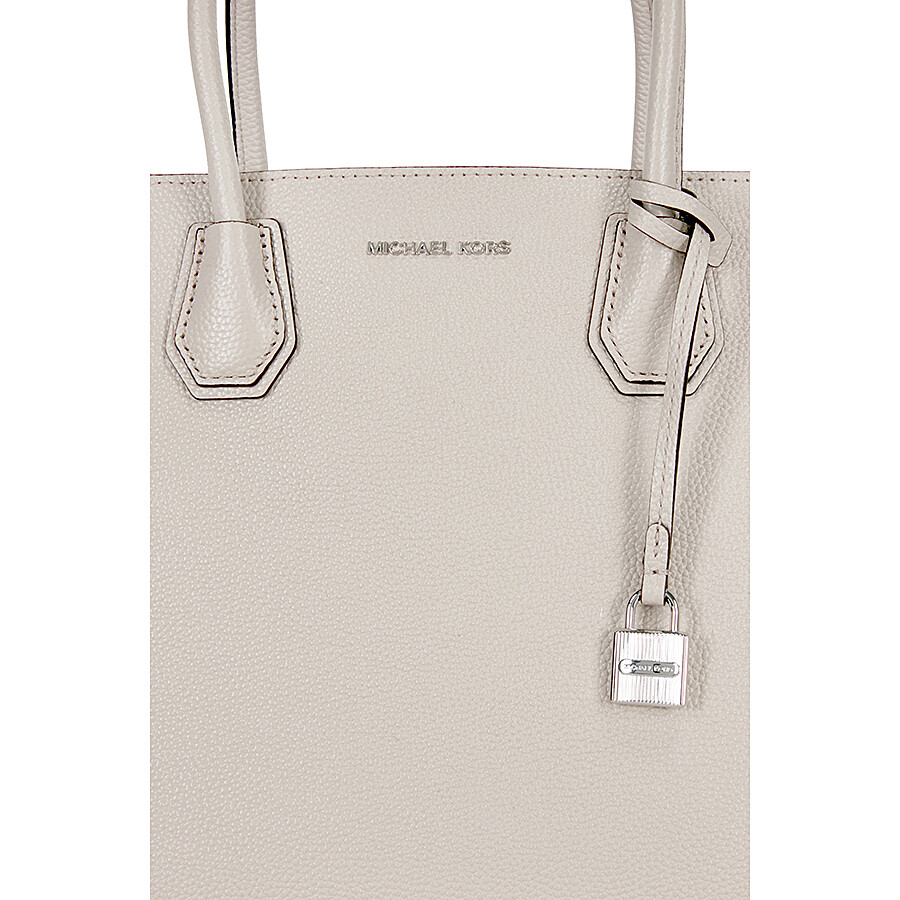 6cdd78dc169f Michael Kors Mercer Large Bonded Leather Tote - Cement - Michael ...