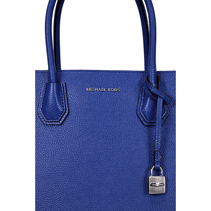 5f4c05b6c97b Michael Kors Mercer Large Bonded Leather Tote - Electric Blue ...