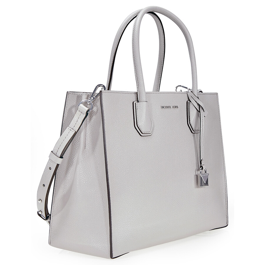 Michael Kors Mercer Large Leather Tote Pearl Grey